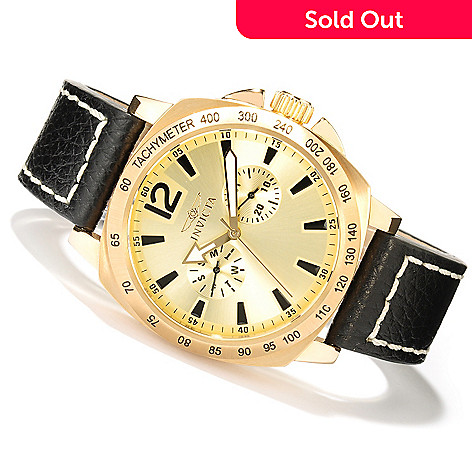 606-437 - Invicta Men's Specialty Quartz Stainless Steel Case Leather Strap Watch
