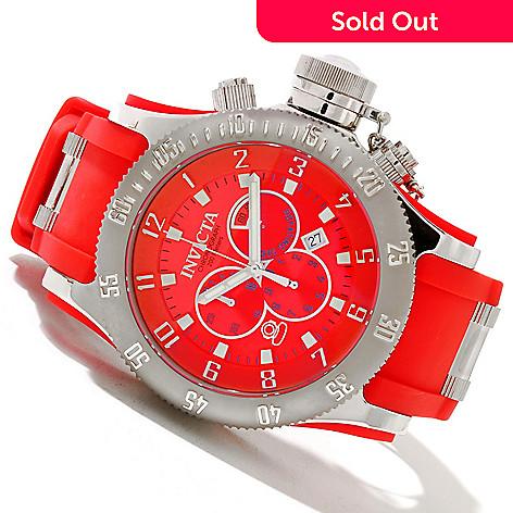 606-456 - Invicta Men's Offshore Russian Diver Swiss Quartz Chronograph Strap Watch w/ 8-Slot Dive Case
