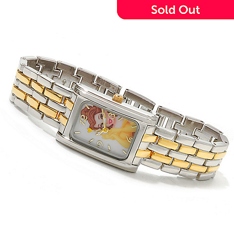 606-458 - Disney Women's Collectible Characters Two-tone Bracelet Watch