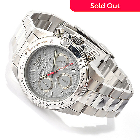 606-474 - Invicta Men's Speedway Quartz Chronograph Stainless Steel Bracelet Watch