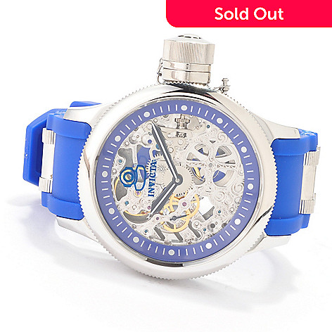 606-475 - Invicta Men's Russian Diver Mechanical Skeleton Strap Watch