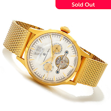 606-553 - Constantin Weisz Limited Edition Diamond Accented Bracelet Watch w/ Storage Box