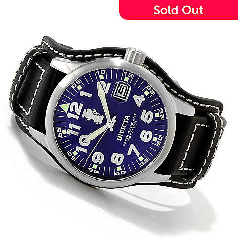 606-589 - Invicta Men's I Force Stainless Steel Leather Strap Watch