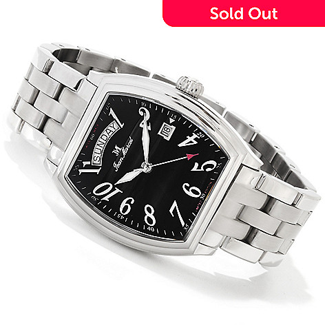 606-614 - Jean Marcel Men's Gravis Limited Edition Swiss Made Mechanical Stainless Steel Bracelet Watch