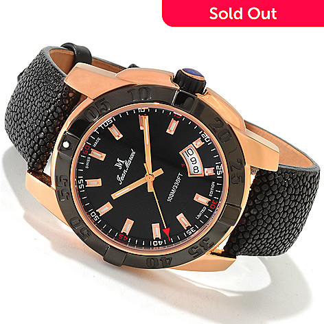 606-616 - Jean Marcel 44mm Mystica Limited Edition Swiss Automatic 18K Rose Gold Plated Watch