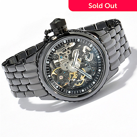 606-648 - Invicta Men's Russian Diver Mechanical Skeleton Ceramic Watch