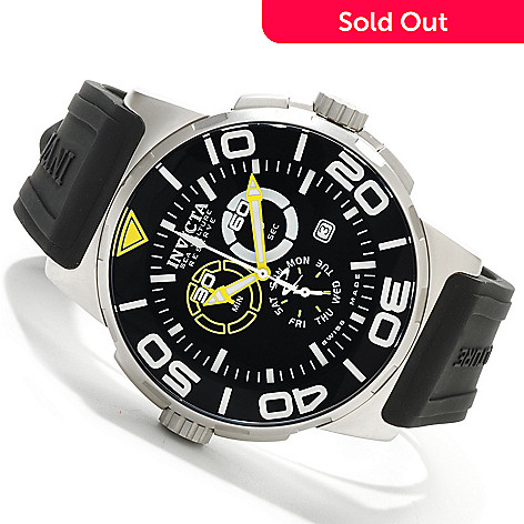 606-654 - Invicta Reserve Men's Sea Vulture Swiss Chronograph Stainless Steel Strap Watch