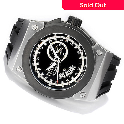 606-674 - Invicta Reserve Men's Akula Swiss Quartz GMT Stainless Steel Strap Watch