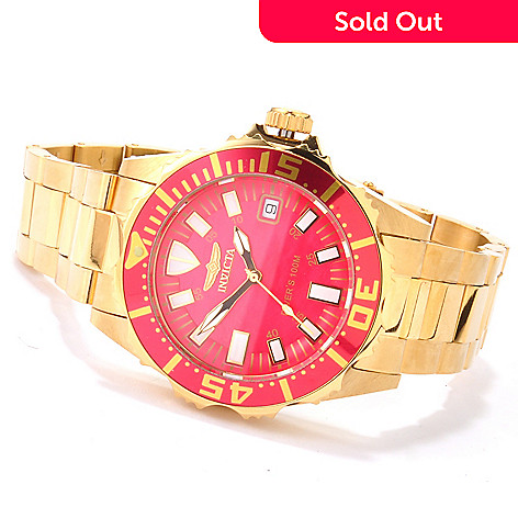 606-696 - Invicta Women's Pro Diver Mother-of-Pearl Stainless Steel Bracelet Watch