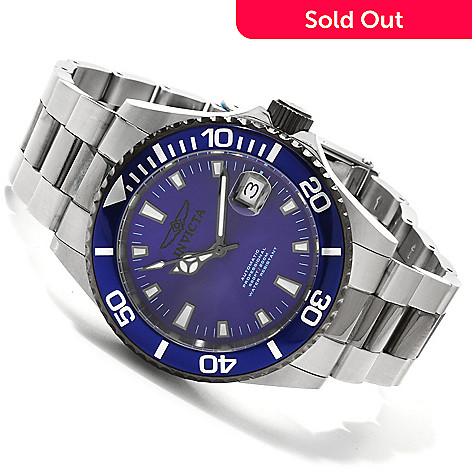 606-699 - Invicta Men's Pro Diver Automatic Bracelet Watch w/ 3-Slot Dive Case