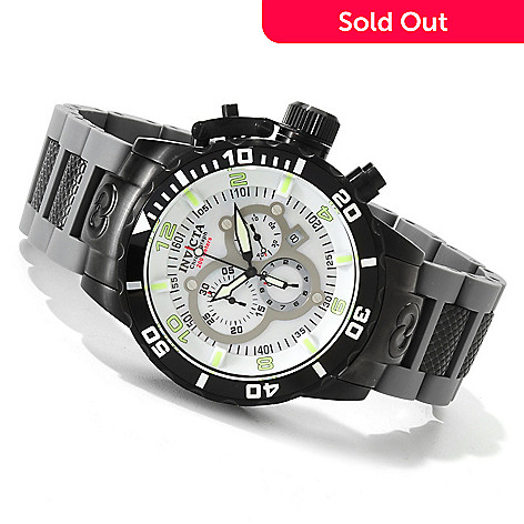 606-700 - Invicta Men's Corduba Quartz Chronograph Mother-of-Pearl Bracelet Watch
