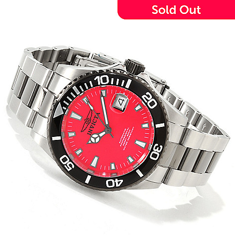 606-701 - Invicta Men's Pro Diver Automatic Sunray Bracelet Watch w/ 3-Slot Dive Case