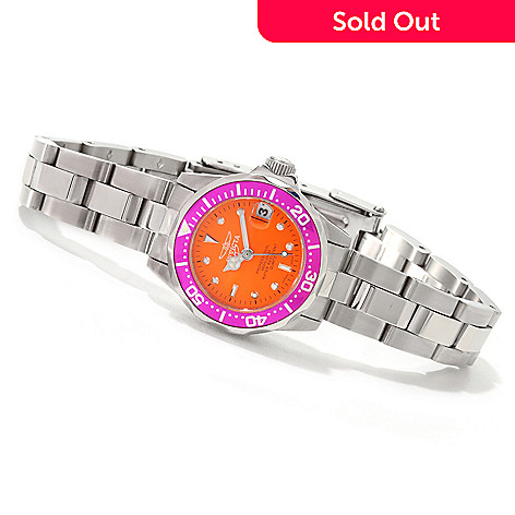 606-717 - Invicta Women's Pro Diver Quartz Stainless Steel Bracelet Watch
