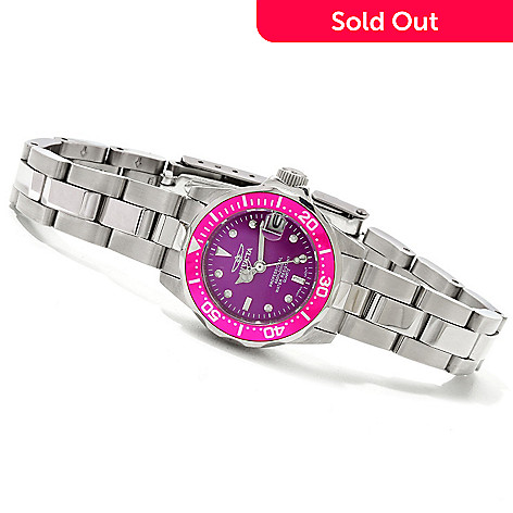 606-718 - Invicta Women's Pro Diver Quartz Stainless Steel Bracelet Watch