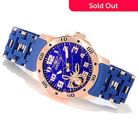 606-759 - Invicta 48mm Sea Spider Stainless Steel Polyurethane Bracelet Watch
