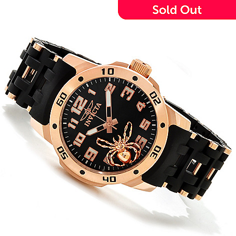 606-760 - Invicta 48mm Sea Spider Quartz Stainless Steel & Polyurethane Bracelet Watch