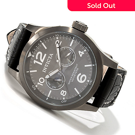 606-765 - Invicta Men's I Force Stainless Steel Leather Strap Watch