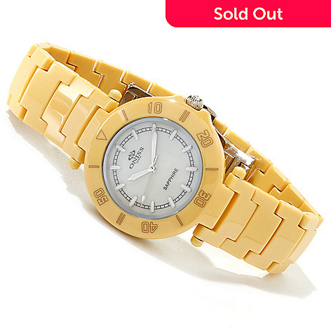 606-789 - Oniss Women's Verraton Mother-of-Pearl Ceramic Bracelet Watch