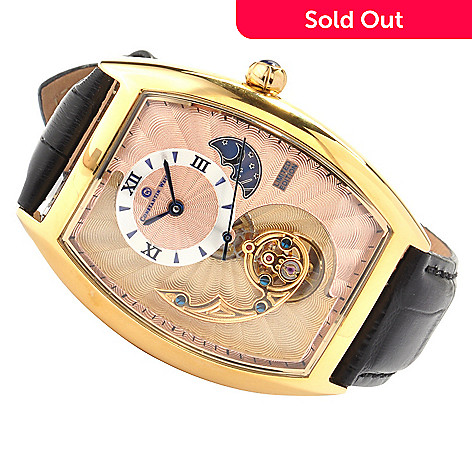 606-817 - Constantin Weisz Men's Numbered Limited Edition Double Layer Watch w/ Storage Box