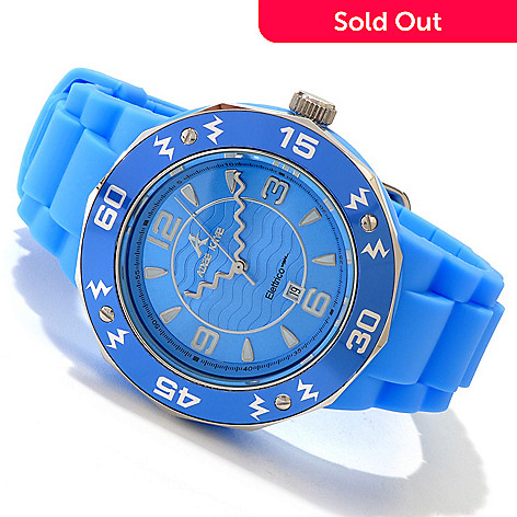 606-849 - Adee Kaye Women's Elettrico Japanese Quartz Silicone Strap Watch