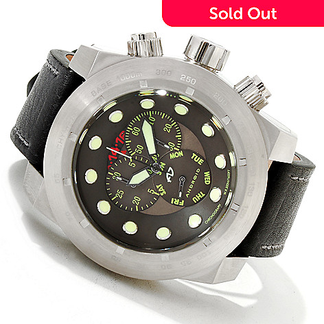 606-876 - Android Men's Volcano 50 Quartz Chronograph Stainless Steel Strap Watch