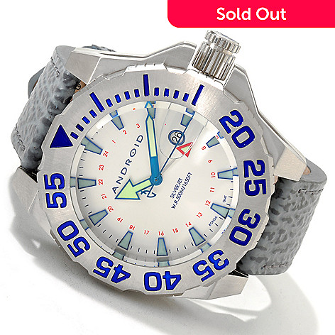 606-878 - Android Men's Divemaster Silverjet 500 Quartz GMT Strap Watch