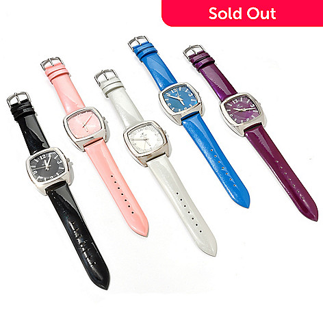 606-953 - Arm Candy by W Women's Quartz Set of Five Leather Strap Watches