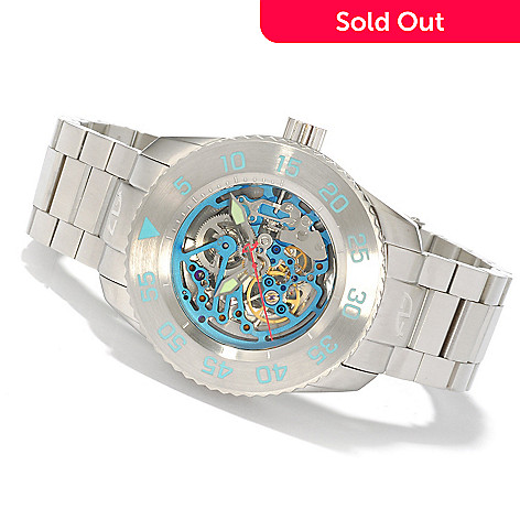 607-006 - Android Men's Divemaster Maxjet Skeleton Automatic Stainless Steel Bracelet Watch