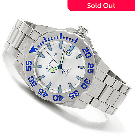 607-007 - Android Men's Divemaster Silverjet 45 Stainless Steel Bracelet Watch