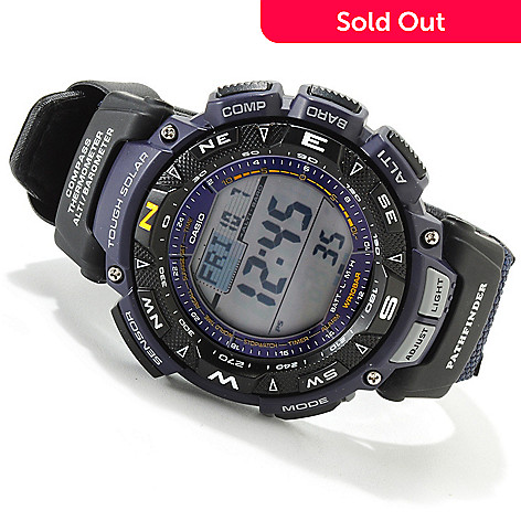 607-014 - Casio Men's Pathfinder Tough Solar Fabric Strap Watch