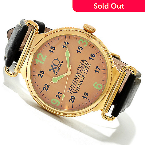 607-031 - XO Retro Men's F4 Phantom 1972 Vietnam Military DNA Quartz Leather Strap Watch
