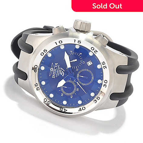 607-058 - Invicta 48mm S1 Quartz Chronograph Stainless Steel Case Polyurethane Strap Watch