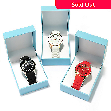 607-070 - Arm Candy by W Women's Quartz Set-of-Three Strap Watches