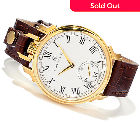 607-079 - Constantin Weisz Men's Mechanical Two-in-One Strap & Pocket Watch