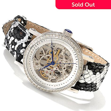 607-081 - Constantin Weisz Women's Automatic Skeletonized Watch Made w/ Swarovski® Elements