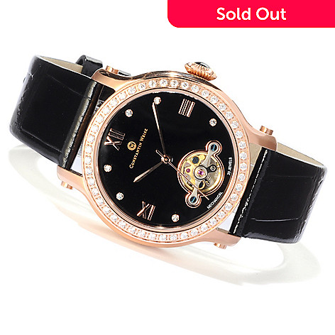 607-084 - Constantin Weisz Women's Mechanical Strap Watch Made w/ Swarovski® Elements