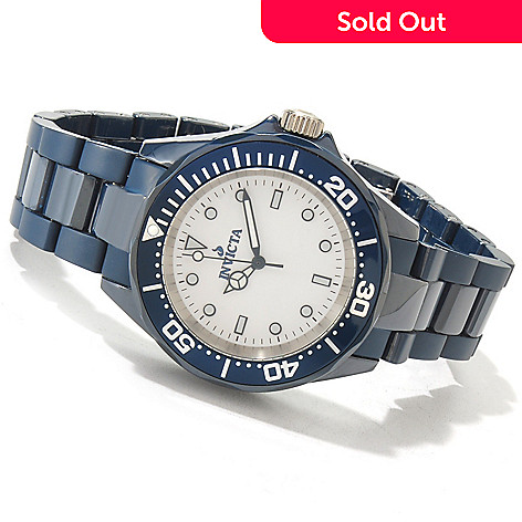 607-163 - Invicta Ceramics 41mm Mid-Size Quartz Bracelet Watch
