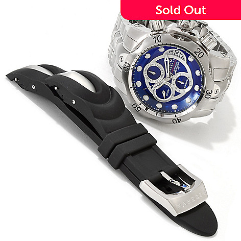 607-167 - Invicta Reserve Men's Venom A07 Valgranges Watch w/ Strap & 3-Slot Dive Case