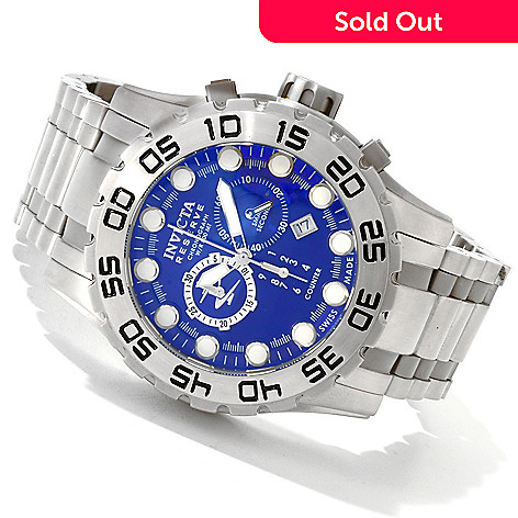 607-173 - Invicta Reserve Men's Leviathan Evolution Swiss Made Quartz Chronograph Bracelet Watch w/ Dive Case