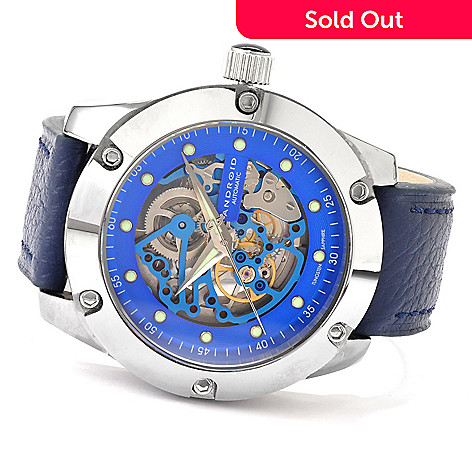 607-177 - Android Men's Antigravity Automatic Tungsten Skeleton Strap Watch