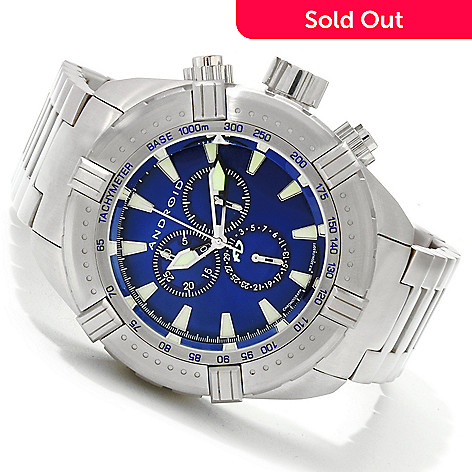 607-183 - Android Men's Stratus Quartz Chronograph Stainless Steel Bracelet Watch