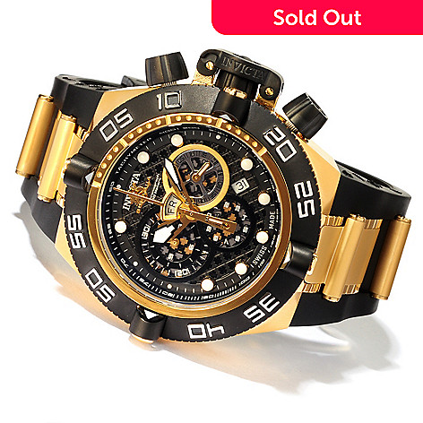 607-281 - Invicta Men's Subaqua Noma IV Swiss Chronograph Strap Watch w/ 3-Slot Dive Case