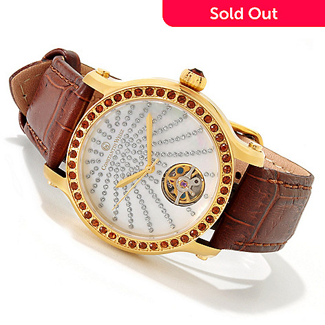 607-284 - Constantin Weisz Women's Mechanical Strap Watch Made w/ Swarovski® Elements
