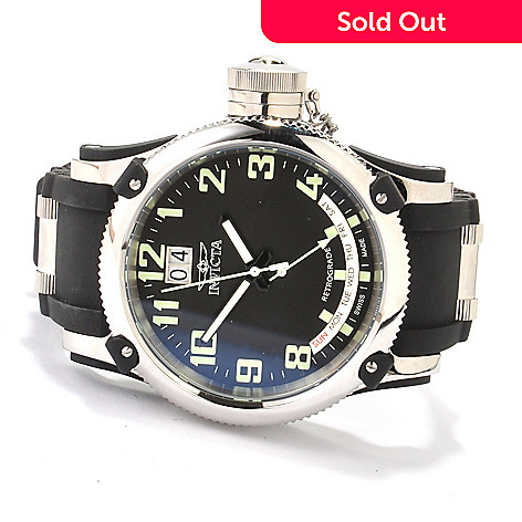 607-286 - Invicta Men's Russian Diver Swiss Made Quartz Stainless Steel Strap Watch