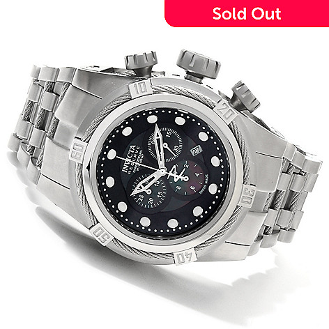 607-290 - Invicta Reserve 52mm Bolt Zeus Swiss Made Quartz Chronograph Mother-of-Pearl Dial Bracelet Watch