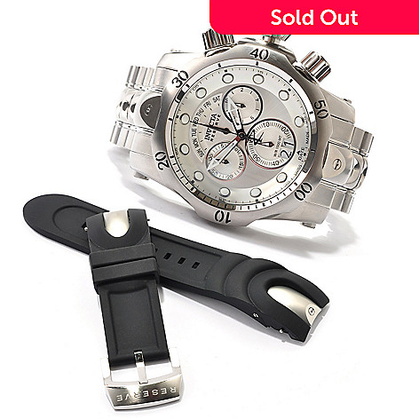 607-295 - Invicta Reserve Men's Venom Bracelet Watch w/ Polyurethane Strap & 3-Slot Dive Case