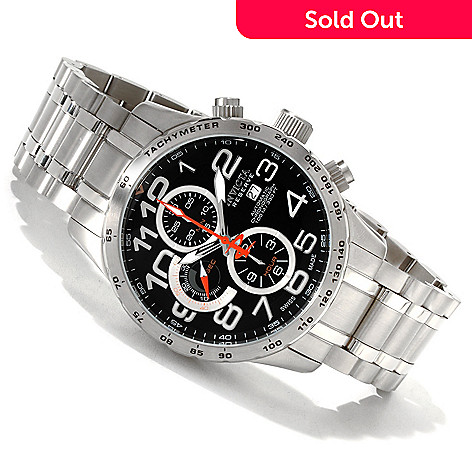 607-296 - Invicta Reserve 48mm Military Swiss Made Automatic Bracelet Watch w/ 3-Slot Dive Case