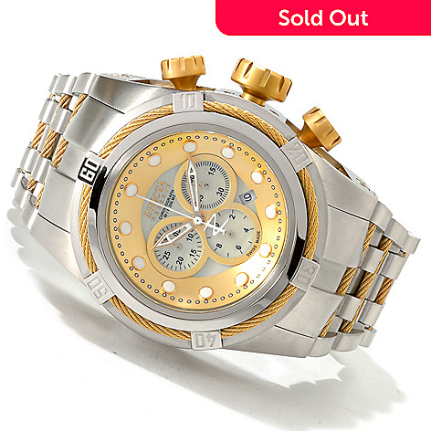 607-297 - Invicta Reserve 52mm Bolt Zeus Swiss Made Quartz Chronograph Stainless Steel Bracelet Watch