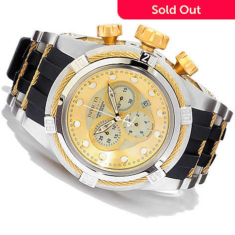 607-301 - Invicta Reserve Men's Bolt Zeus Swiss Made Quartz Chronograph Mother-of-Pearl Dial Strap Watch