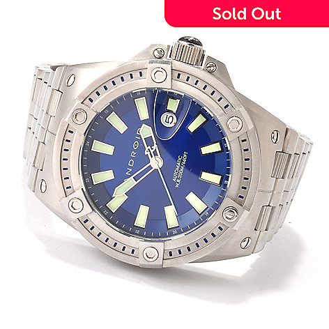 607-306 - Android Men's Divemaster Predator Automatic Stainless Steel Bracelet Watch